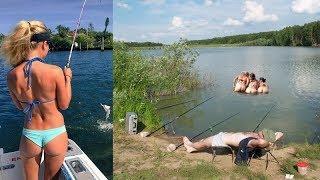 Русские приколы на рыбалке. Пьяные. Нереальная ржака. Подборка приколов 2018.
